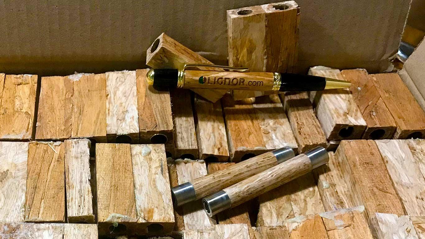 Lignor Pens drilled body blanks