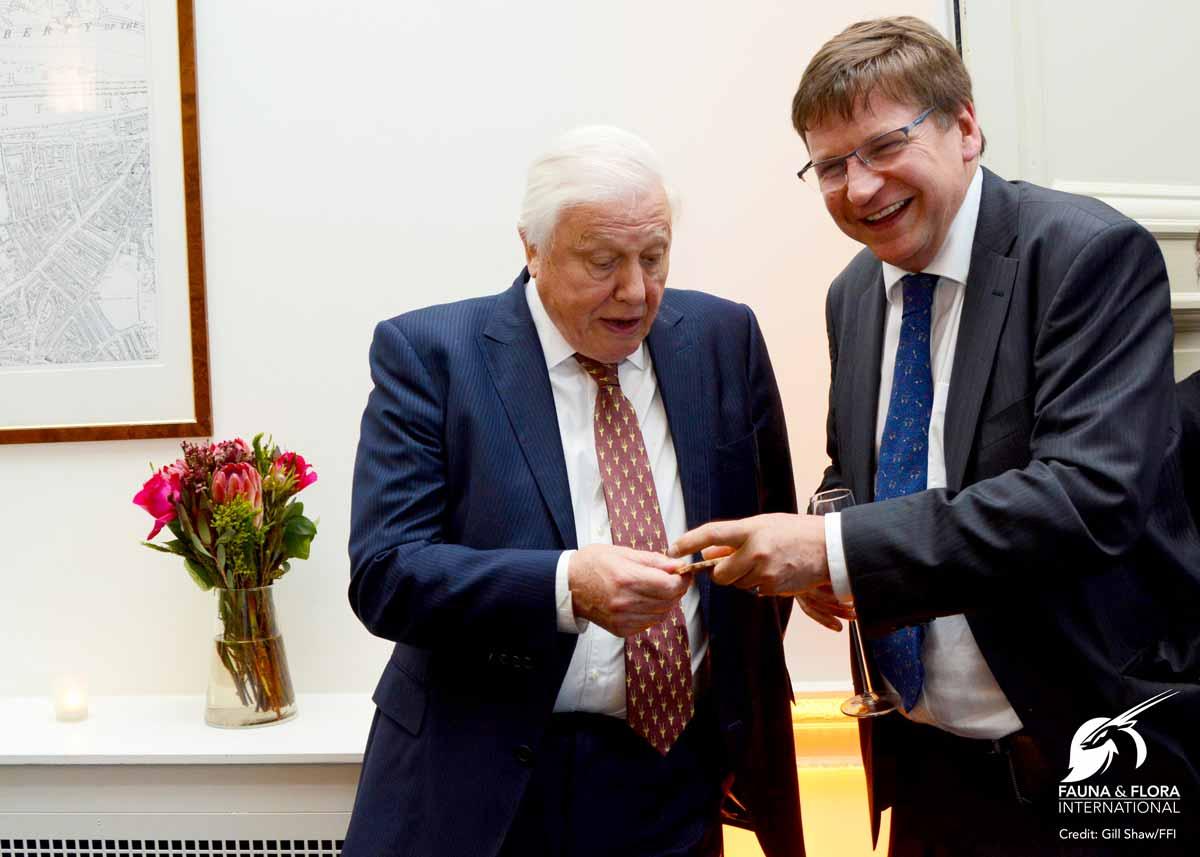 Sir David Attenborough with Graeme Black